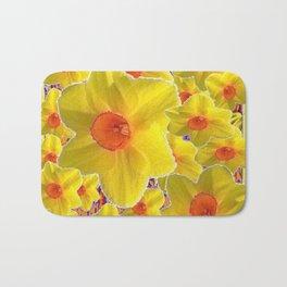 YELLOW-GOLD DAFFODILS FLOWER COLLAGE Bath Mat