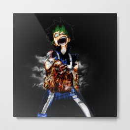 Midoriya Power Metal Print