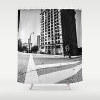 atlanta Shower Curtains featuring Atlanta Downtown by GF Fine Art Photography