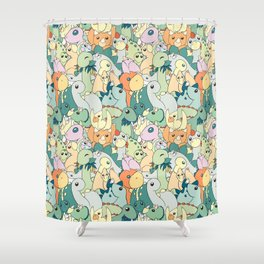 Cute Dino Pattern Shower Curtain