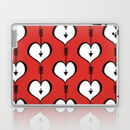 Loving You white hearts Laptop & iPad Skin