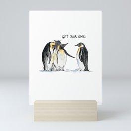 Unfriendly Penguins Mini Art Print
