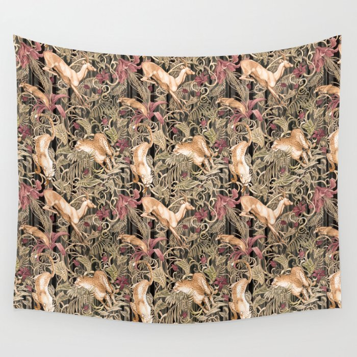 Wild life pattern Wall Tapestry