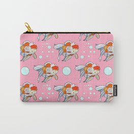 Lion Head Goldfish Pink Carry-All Pouch