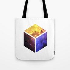 Nebula Cube - White Tote Bag