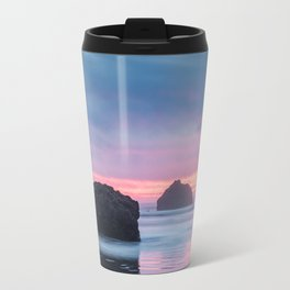 Hug Point, Oregon at Sunset Travel Mug