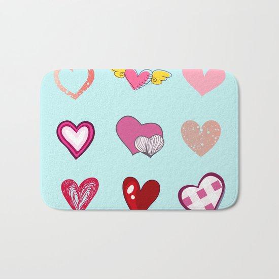 Hearts Bath Mat