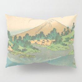 Reflection in Lake at Misaka in Kai Province, Thirty-six Views of Mount Fuji by Katsushika Hokusai Pillow Sham