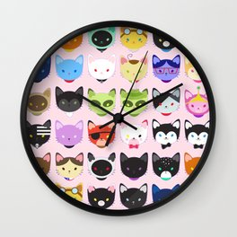 Love character cats Wall Clock