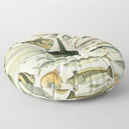 Adolphe Millot- Poisonous Fish Floor Pillow