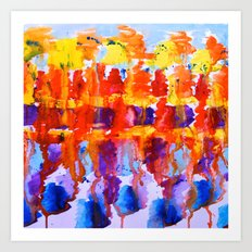 colourful watercolour  Art Print