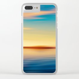 Sunset Seascape Island Clear iPhone Case