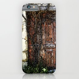 The old red door Zakynthos Greece iPhone Case