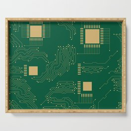 Microcircuit Serving Tray