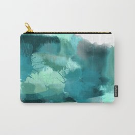 Abstract Jade Color Story Carry-All Pouch