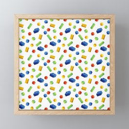 Building Blocks Pattern Framed Mini Art Print