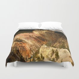 Yellow Rocks Of The Yellowstone Valley Duvet Cover