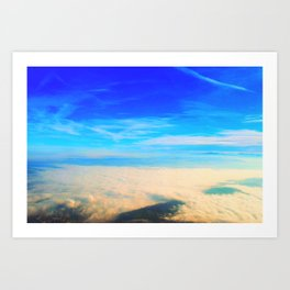 Sky love Art Print