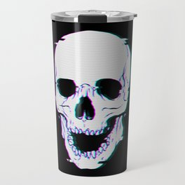 Glitch Skull Travel Mug