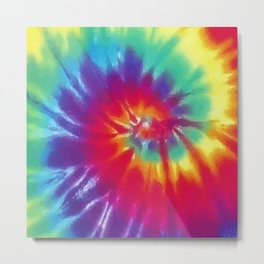Tie Dye Swirl Pattern Metal Print