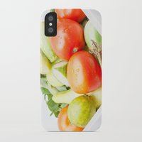 vegetables iPhone & iPod Cases featuring vegetables by Marcel Derweduwen
