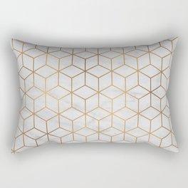 Marbled Copper Cubes Rectangular Pillow