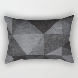 Geometric - Grey Rectangular Pillow