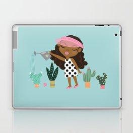 Happy Hair girl plants Laptop & iPad Skin