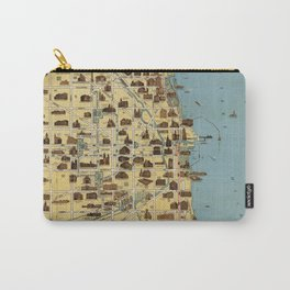 Map of Chicago 1940 Carry-All Pouch