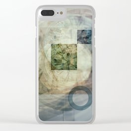 multi exposure clock  2 Clear iPhone Case