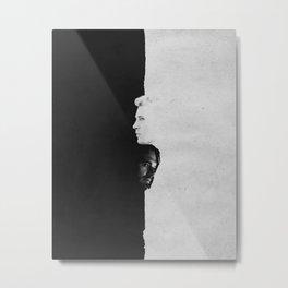 Bucky & Steve   Split Metal Print