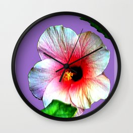 Hybiscus jGibney The MUSEUM Society6 Gifts Wall Clock