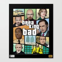 gta Canvas Prints featuring Breaking Bad GTA  by Akyanyme