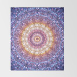 Cosmic Mandala Throw Blanket