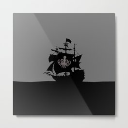 ship in the ocean Metal Print