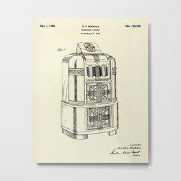 Phonograph Cabinet-1940 Metal Print