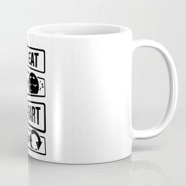Eat Sleep Fart Repeat | Farting Flatulence Smell Coffee Mug