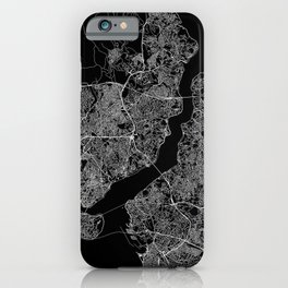 Istanbul Black Map iPhone Case