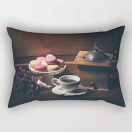 Vintage still life with coffee items Rectangular Pillow