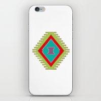 kilim iPhone & iPod Skins featuring Persian Kilim  - Plain Background by Katayoon Photography & Design