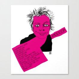 musicstrokes_anderson Canvas Print