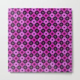 Tiled pink Metal Print