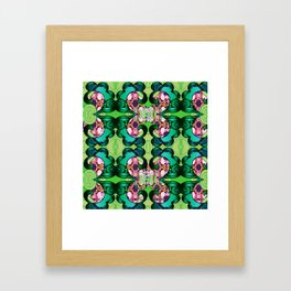 Ultra Garden Green Feng Shui Stunning Psychedelic Abstract Framed Art Print