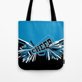 Blue Cheerleader Tote Bag