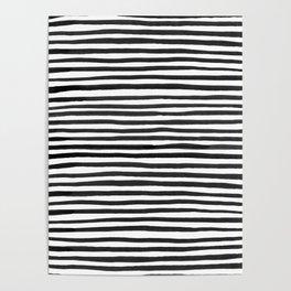 Ink Stripes Pattern Poster