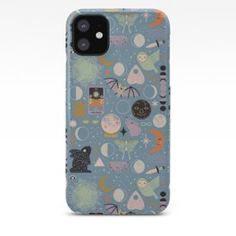 Lunar Pattern: Blue Moon iPhone Case