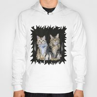 marble Hoodies featuring Marble Meows by Distortion Art