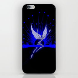 Electric Blue Angel iPhone Skin