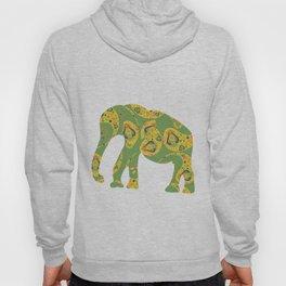 Paisley green elephant Hoody