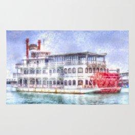 New Orleans Paddle Steamer Art Rug